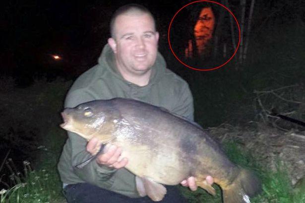 Terrorífico rostro fotografía pescador
