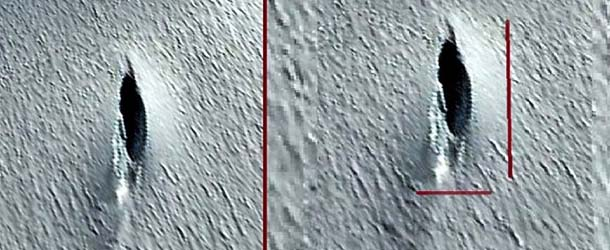 google earth ovni antartida - Descubren en Google Earth un gran OVNI que se estrelló en la Antártida