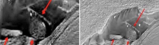 estructuras extraterrestres en marte - Imágenes de la NASA muestran estructuras extraterrestres en Marte
