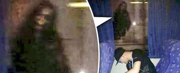 mujer fantasmal gran premio abu dabi - Aficionado a la Fórmula Uno fotografía una aterradora mujer fantasmal durante el Gran Premio de Abu Dabi