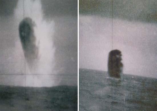 ovnis submarino2 - Filtran fotografías de enormes ovnis tomadas desde un submarino estadounidense en el Ártico