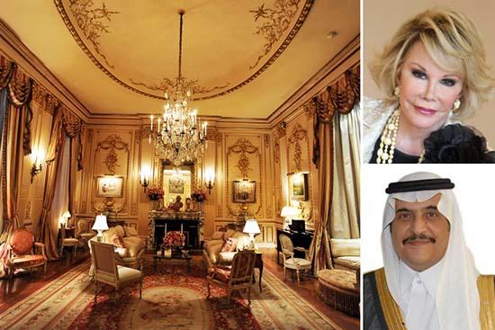 """apartamento embrujado joan rivers - Príncipe saudí compra el lujoso apartamento """"embrujado"""" de Joan Rivers"""