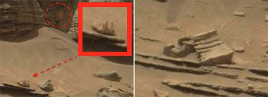 NASA monstruoso cangrejo extraterrestre Marte