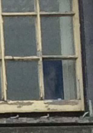 Rostro fantasmal antiguo edificio Inglaterra