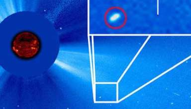 """enorme cometa luna sangre 384x220 - Astrónomo descubre un enorme cometa cerca del Sol pocos días antes de la """"Luna de Sangre"""""""
