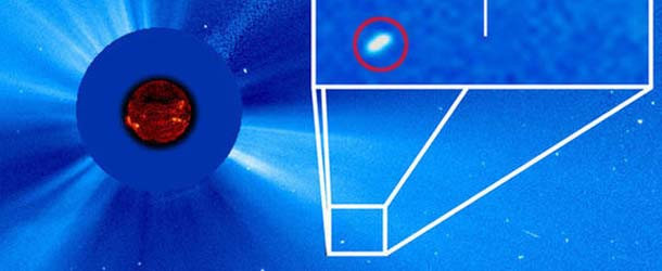 """enorme cometa luna sangre - Astrónomo descubre un enorme cometa cerca del Sol pocos días antes de la """"Luna de Sangre"""""""