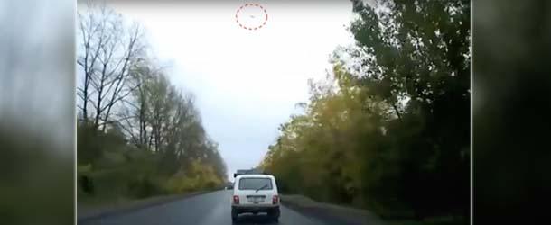ovni carretera rusia - Un OVNI causa un mortal accidente en una carretera de Rusia