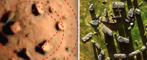 """Investigadores hallan un """"Stonehenge"""" en Marte"""