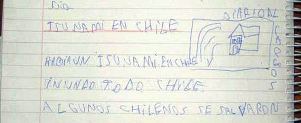 terremoto tsunami chile - Niño de ocho años predijo el mortal terremoto y tsunami de Chile horas antes de que ocurriera