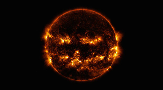 Llamarada solar edad piedra