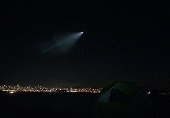 misteriosa luz cielo california - Una misteriosa luz en el cielo causa el pánico en California
