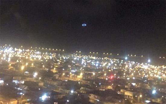 Ovni círculo azul Chile