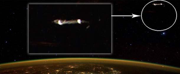 twitter ovni estacion espacial internacional - Astronauta publica una imagen en Twitter de un OVNI cerca de la Estación Espacial Internacional