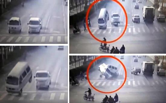 vehiculos levitan calle de china - Cámaras de seguridad muestran cómo unos vehículos levitan inexplicablemente en una calle de China