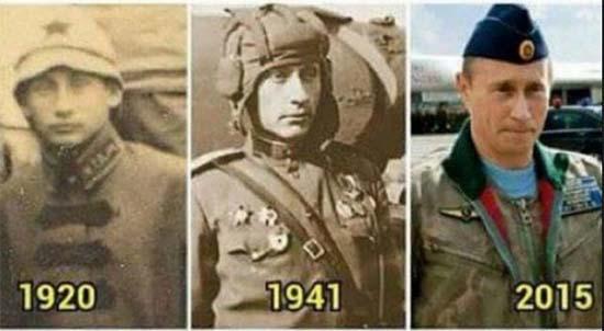 vladímir putin viajero en el tiempo - Imágenes demuestran que Vladímir Putin es realmente un viajero en el tiempo