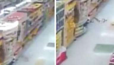 actividad poltergeist supermercado 384x220 - Cámara de seguridad muestra actividad poltergeist en un supermercado