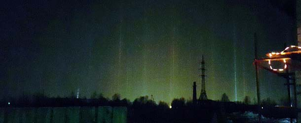 misteriosos rayos de luz ciudad rusa - Aparecen misteriosos rayos de luz sobre una ciudad rusa