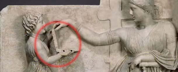 antigua escultura griega ordenador - ¿Antigua escultura griega muestra un ordenador portátil?