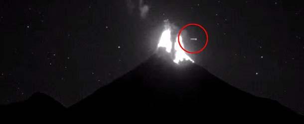 ovni volcan de colima - Un OVNI provoca una erupción en el volcán de Colima