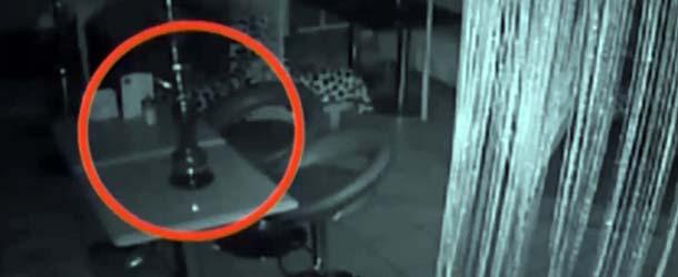 Cámaras de seguridad graban actividad poltergeist en un bar de Moscú
