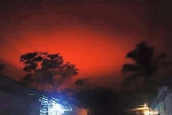 bola de fuego el salvador - Una misteriosa bola de fuego tiñe de rojo los cielos de El Salvador, ¿una señal más del fin de los tiempos?