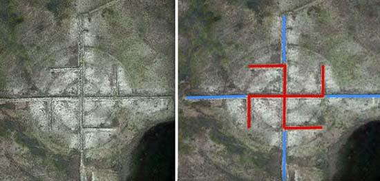 esvastica gigante cerca del area 51 - Descubren una esvástica gigante cerca del Área 51