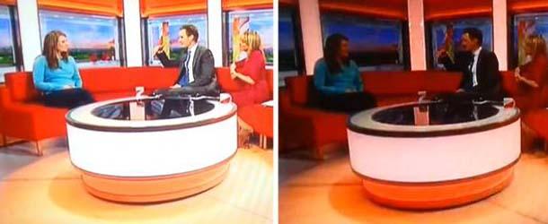 sombra fantasmal bbc - Una sombra fantasmal aparece durante la emisión de un programa de televisión de la BBC