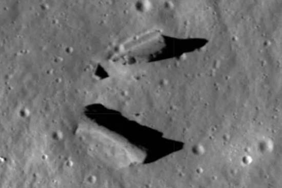 estructuras extraterrestres en la luna - Nuevas imágenes de la NASA revelan estructuras extraterrestres en la Luna