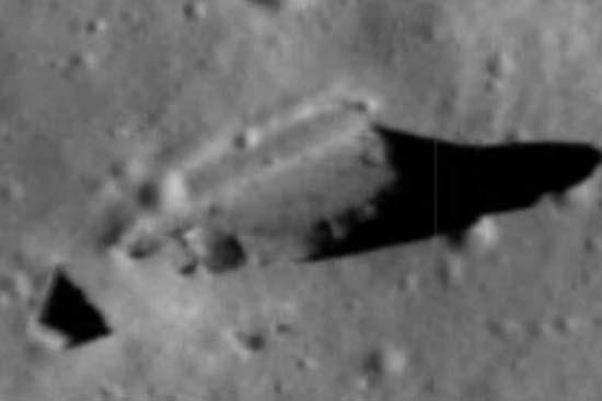 Estructuras extraterrestres en Luna