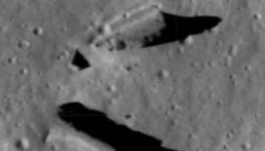 estructuras extraterrestres luna 384x220 - Nuevas imágenes de la NASA revelan estructuras extraterrestres en la Luna