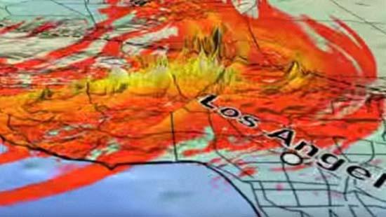 Falla de San Andrés cargada lista gran terremoto