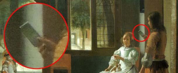 Jefe de Apple asegura haber visto un iPhone en una pintura de hace 350 años