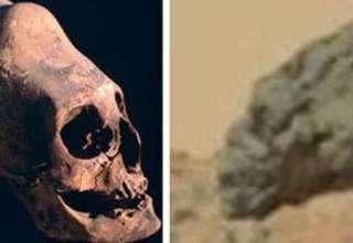 craneo alargado extraterrestre en marte 320x220 - Descubren un cráneo alargado extraterrestre en Marte