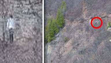 extrana figura sin rostro montana canada 384x220 - Excursionistas fotografían una extraña figura sin rostro en una montaña de Canadá