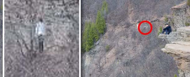 extrana figura sin rostro montana canada - Excursionistas fotografían una extraña figura sin rostro en una montaña de Canadá