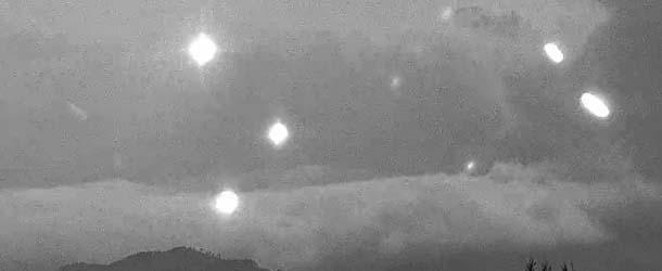 flota ovnis volcan popocatepetl - Sorprendente flota de ovnis aparece cerca del volcán Popocatépetl