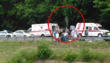 alma motorista muerto 384x220 - Fotografían el alma de un motorista muerto abandonado su cuerpo en el lugar del accidente