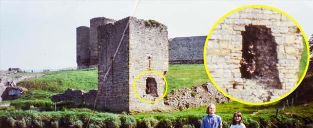 arquero espectral castillo gales - Un abuelo fotografía un arquero espectral en un castillo de Gales