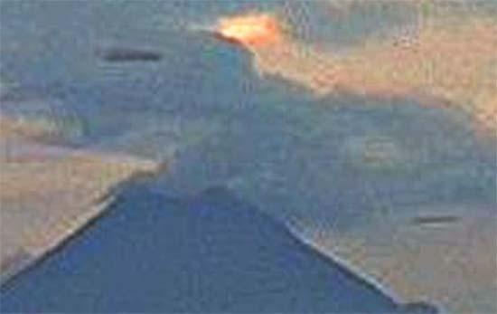 Enormes ovnis volcán Colima