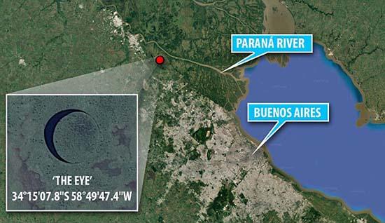 base extraterrestre subterranea en argentina - Director de cine descubre una base extraterrestre subterránea en Argentina a través de Google Earth