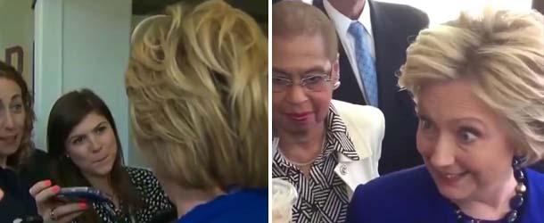 hillary clinton fuerza demoniaca - Aseguran que Hillary Clinton es poseída por una fuerza demoníaca durante una entrevista