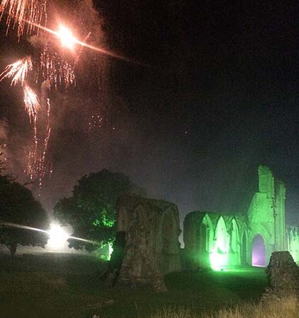 Fantasma monje abadía Glastonbury