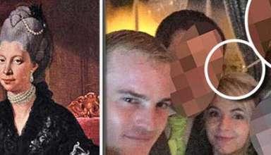 fantasma reina britanica selfie 384x220 - El fantasma de una reina británica aparece en un selfie nupcial