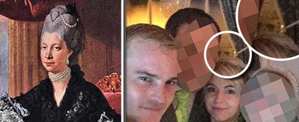 fantasma reina britanica selfie - El fantasma de una reina británica aparece en un selfie nupcial