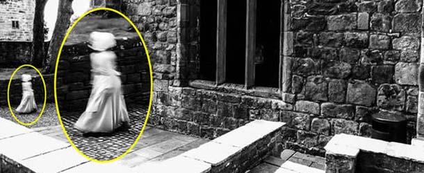figura fantasmal castillo inglaterra - Fotografían una asombrosa figura fantasmal en un castillo de Inglaterra