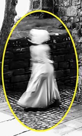 Figura fantasmal en castillo de Inglaterra
