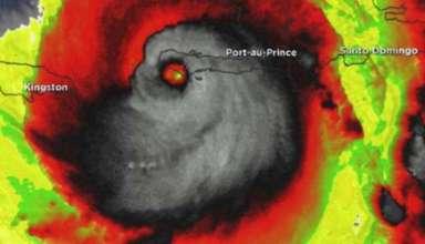 huracan matthew muestra rostro demoniaco 384x220 - Imagen de satélite del huracán Matthew muestra un rostro demoníaco