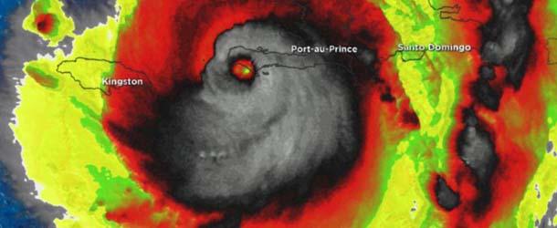 huracan matthew muestra rostro demoniaco - Imagen de satélite del huracán Matthew muestra un rostro demoníaco