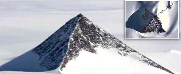 piramides antartida - Descubren tres pirámides en la Antártida a través de Google Earth