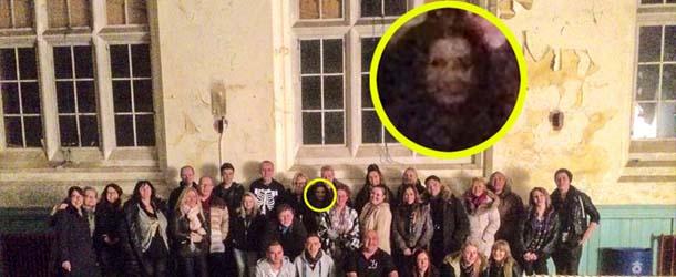 rostro fantasmal hospital abandonado - Fotografían un aterrador rostro fantasmal en un hospital abandonado de Inglaterra